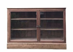 Vintage Pine Glazed Display China Bookcase Drinks Cabinet Cupboard Asymmetric